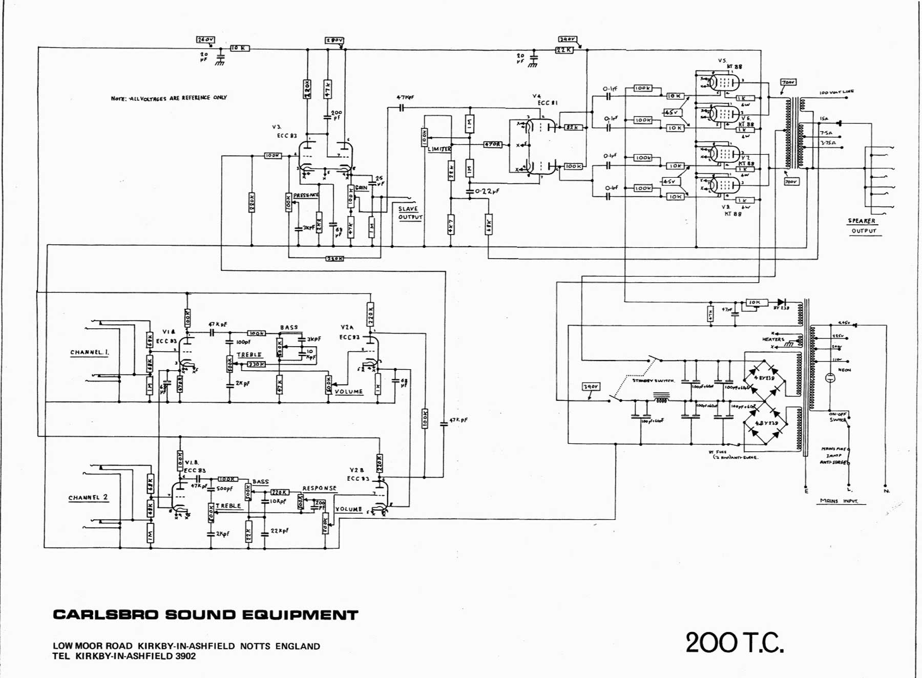 Carlsbro 200 Tc Amp Schematic At T Phone Wiring Diagram Return To Carslbro Diagrams Page