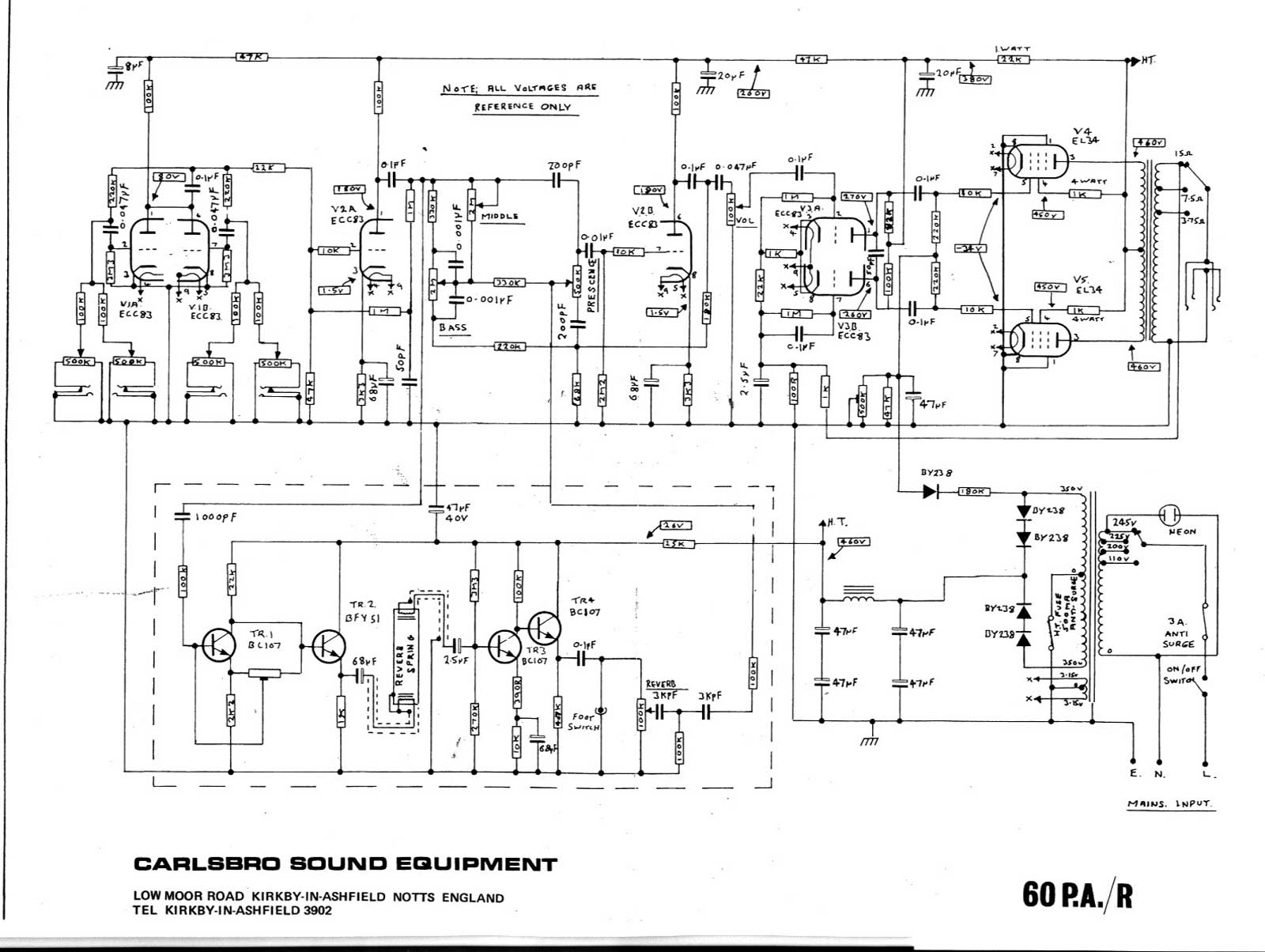 Amp Wiring Diagram : Z amplifier schematic b
