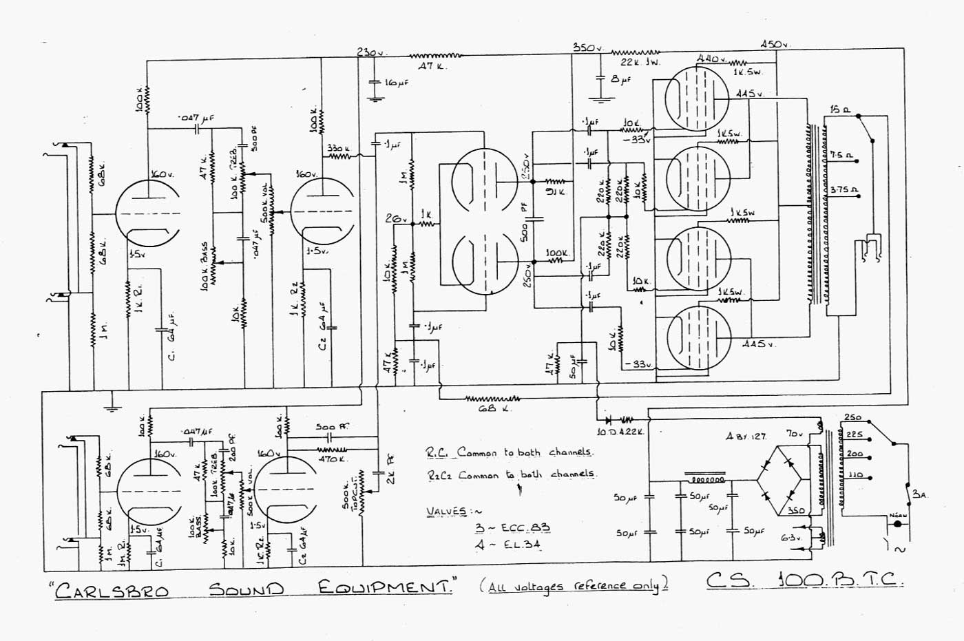 2004 saturn ion power window wiring diagram carlsbro cs100 b t c amp schematic  carlsbro cs100 b t c amp schematic