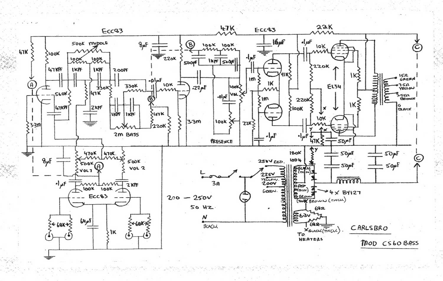 cs60 bass teisco wiring diagram bass guitar pickup wiring \u2022 wiring diagrams guitar amp wiring harness at reclaimingppi.co