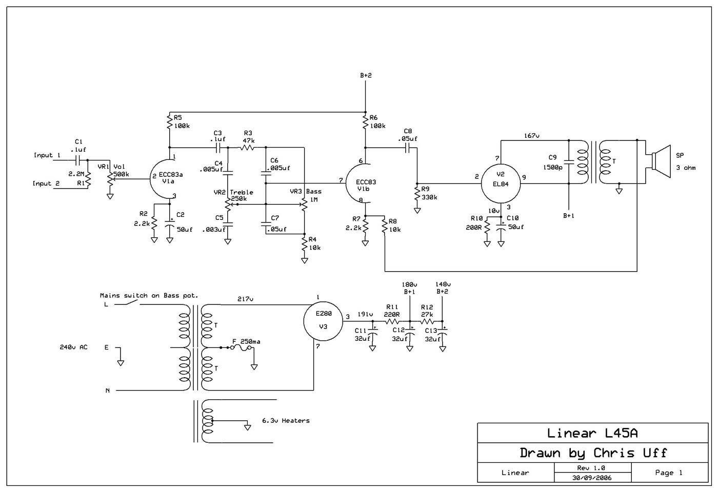 Linear Conchord L45a Schematic Diagram