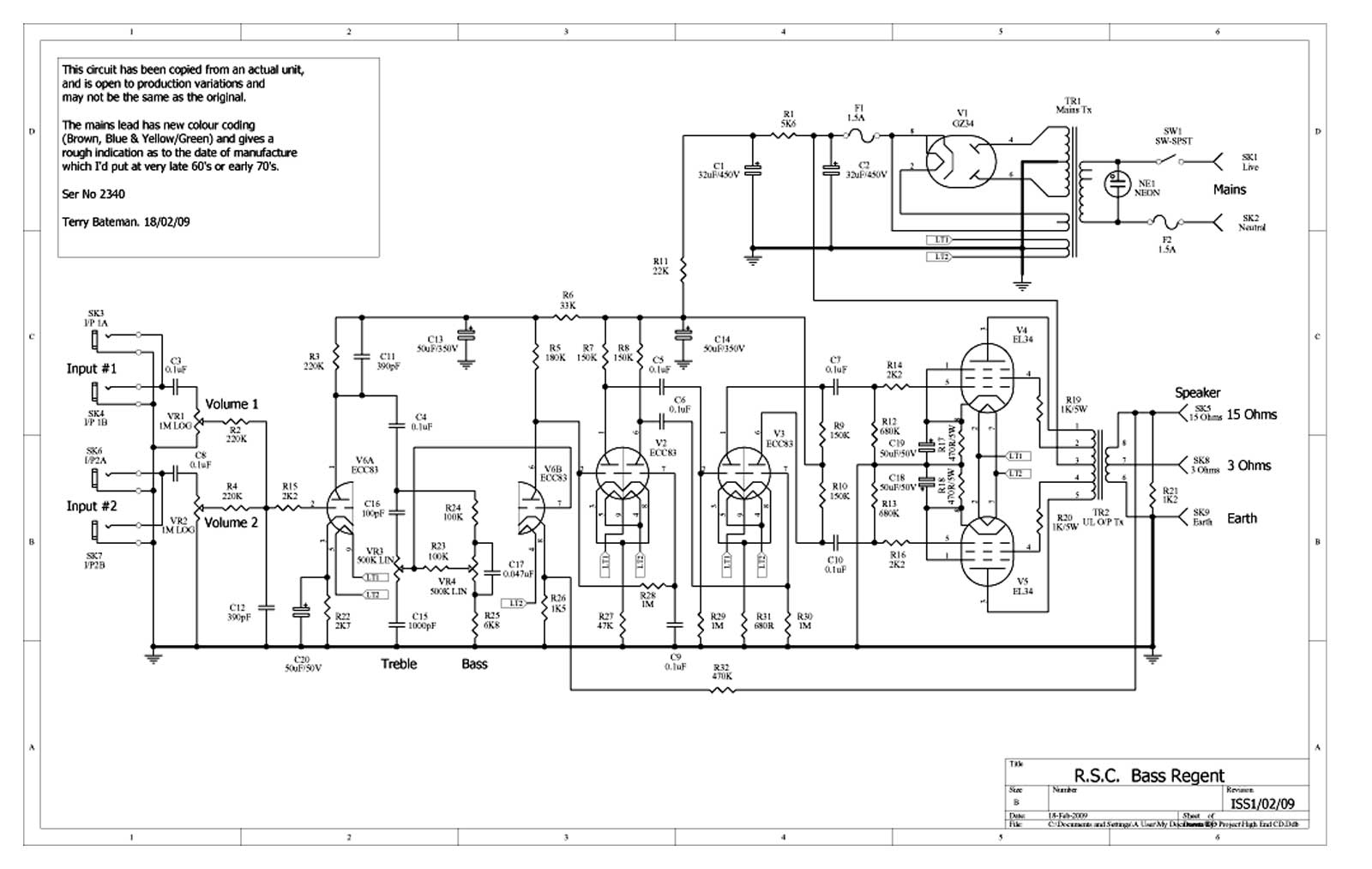Linear Rsc Bass Regent Schematic Diagram 91 Acura Legend Engine Return To Carslbro Diagrams Page