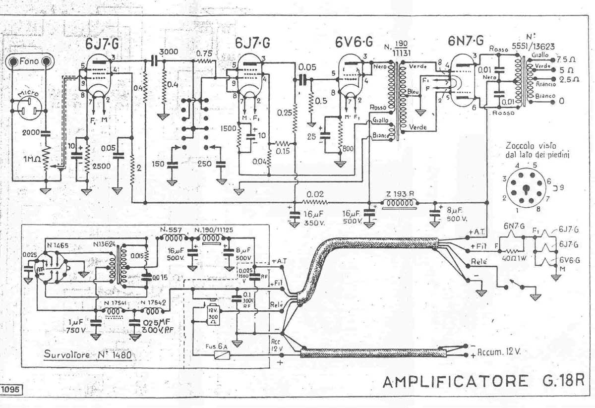 Geloso g 18 r schematic diagam return to the champ electronics geloso page sciox Gallery