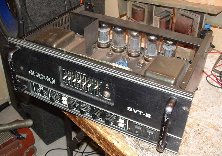 Repair of three Ampeg SVT Amps