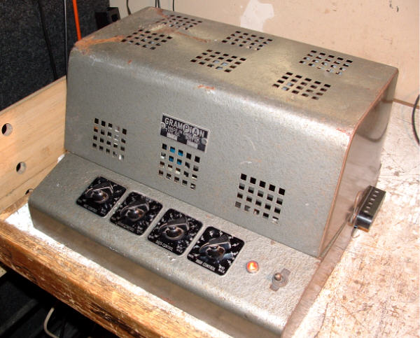 Repair of a Grampian 562A PA Amp